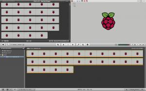 iMovie 操作画面